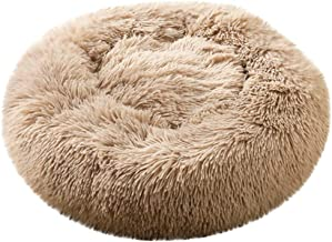 SFE Fashion Pet Cushion Bed Winter Reversible Fleece Round Donut Nest Foldable Odor Remover Pet Mat Soft Easy to Clean