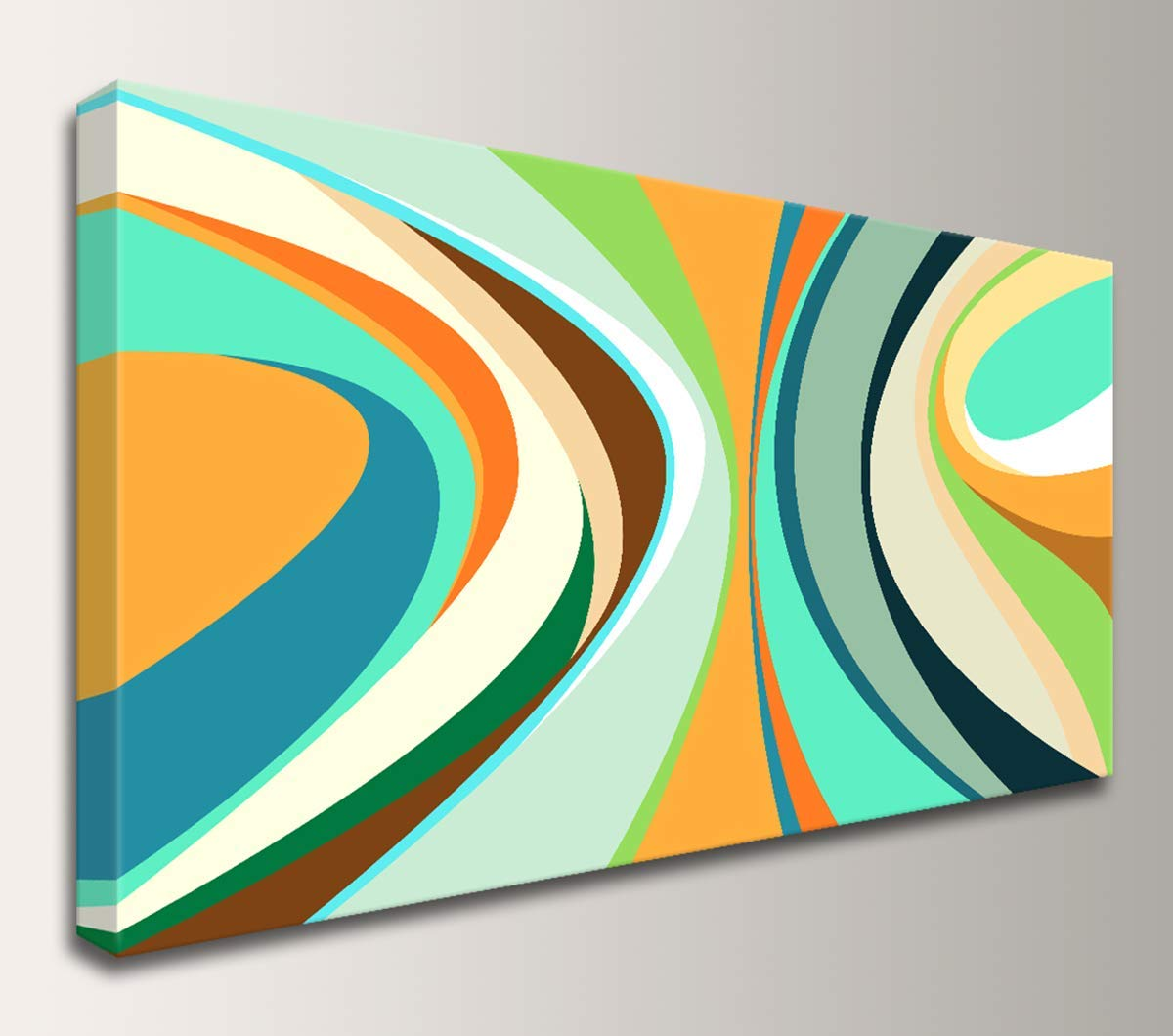 Buy quot;Tropicana   Mid Century Modern Art   Large Colorful ...