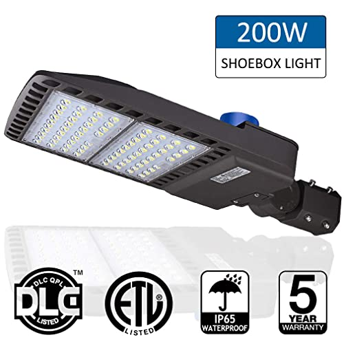200W LED Parking Lot Lights- LEDMO 5000K LED Street Lights Shoebox Pole Lights, Waterproof