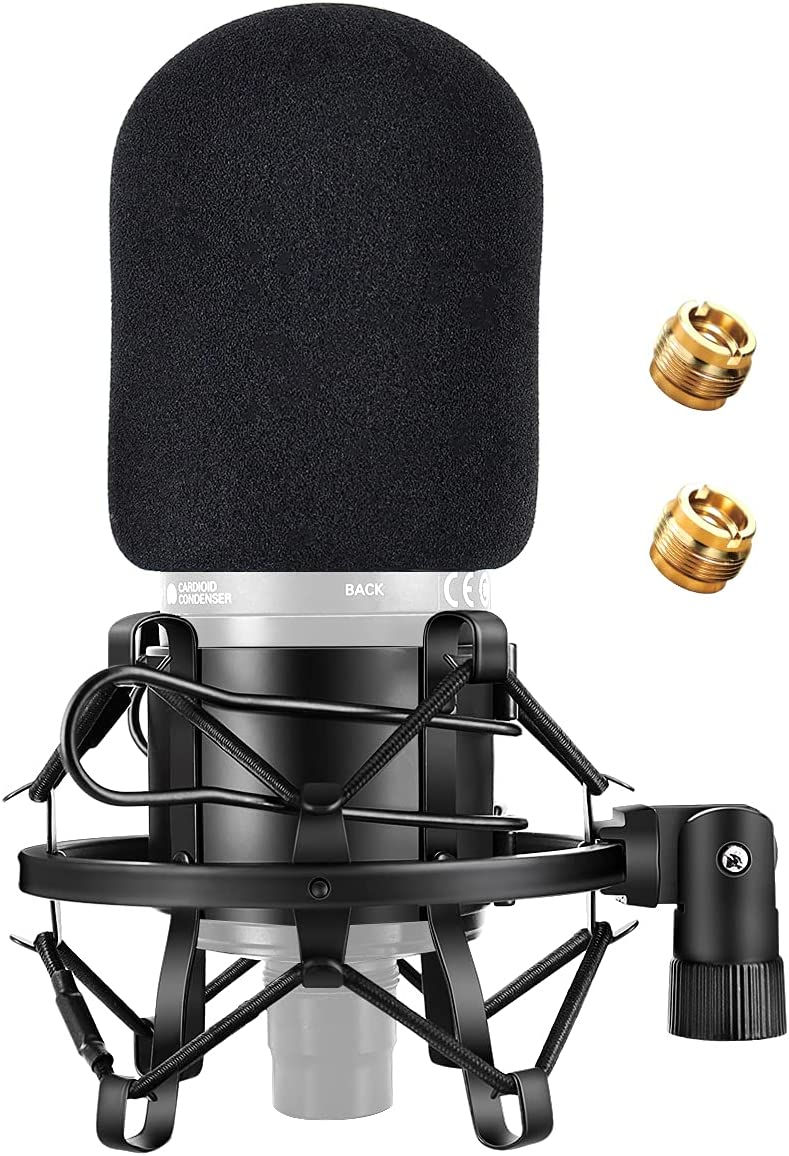 AT2020 High quality new Mic Shock Mount Ranking TOP14 with Pop Filter Windscreen Anti-V Etour
