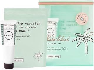 Frank Body Babe Island Kit   Coconut Body Scrub & Coconut Body Balm   Exfoliating Coffee Scrub And Moisturizing Oil-Based ...