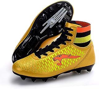 37e56556 YUL Zapatos de fútbol para amantes/Botines de fútbol de cuero cómodo/Botas  de