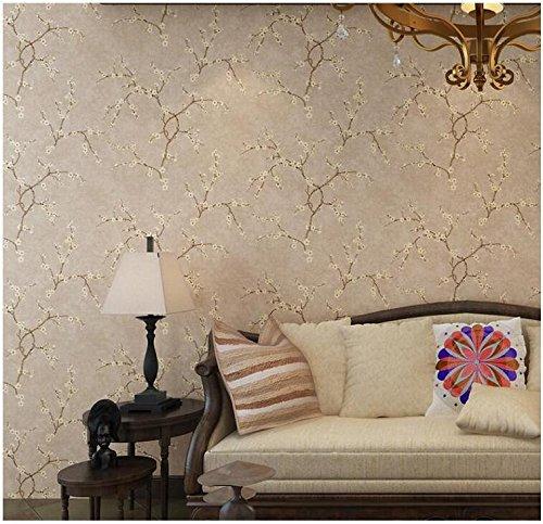Yosot Retro Weinig bloemen slaapkamer woonkamer TV sofa achtergrond muur vlies behang geel