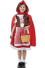 Fun Shack Roja Caperucita Roja Disfraz para Niñas - S: Amazon.es ...
