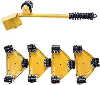 المتزلجون 5 Pcs Furniture Moving Roller Set with 1 Lifting Rod and 4 Furniture Glides, Move Up to 250KG, Easy Movement of ...