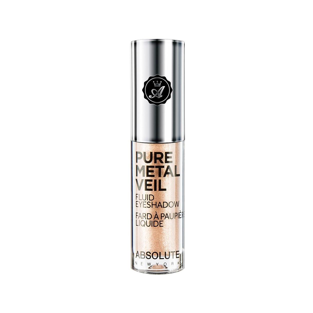 真剣にのど拮抗する(3 Pack) ABSOLUTE Pure Metal Veil Fluid Eyeshadow - Champagne (並行輸入品)