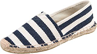 Vogstyle Unisex Breathable Canvas Slip On Espadrille Shoes Sneakers Slip on Flats