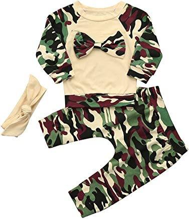 23c3185c7a5 FEITENGTD Newborn Baby Girl Kids Romper Bodysuit+Pants Hairband Outfits  Happy Daddy