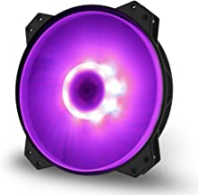 Cooler Master R4-200R-08FC-R1 MF200R RGB - Premium-Quality 200mm RGB Hybrid Silent High Airflow in-Take Fan for Computer Case (Renewed)