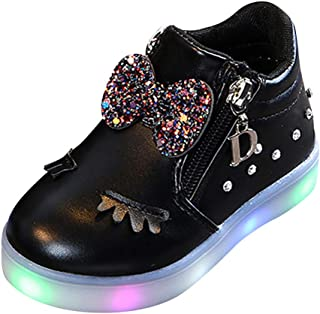fb2ef0b69a8e5 Filles Bottes Bottines Basket LED Lumineuse Princesse Doux Chaussures