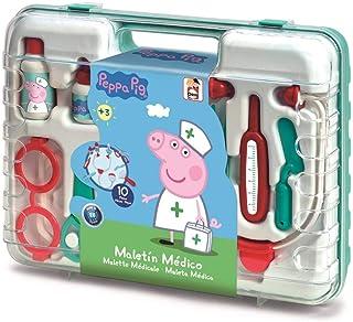 Chicos Peppa Wutz dokterskoffer, speelgoedset voor kinderen, 10 accessoires, vanaf 3 jaar (fabriek 87020)