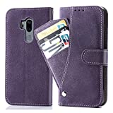 Asuwish Étui de protection en cuir pour LG G7 avec compartiment pour cartes, support fin et...
