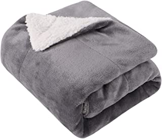 EMME Baby Blanket Fuzzy Sherpa Fleece Blankets Soft Warm Receiving Blankets for Toddler, Infant, Newborn, Boys and Girls Gift Reversible Cozy Blanket for Crib, Stroller, Nap, Outdoor, Decor (Grey)