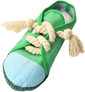 Dog Chew Toys Shoe, Safe and Durable Dog Squeaky Toy Mini Sneakers Shoes Toy for Puppy, Small Medium Dogs, Birds, Cats, Fe...