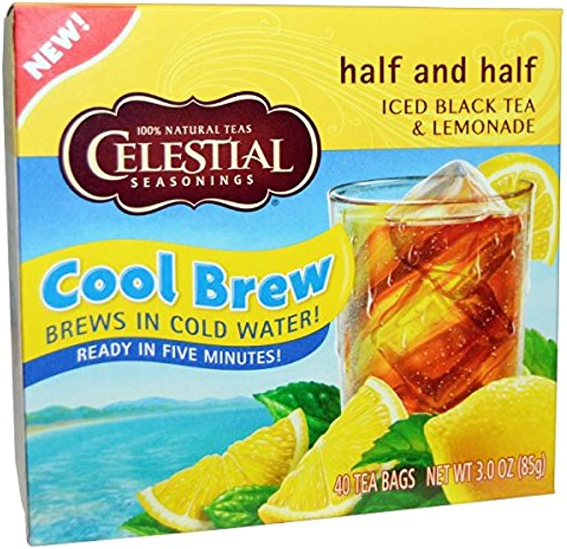 Celestial Seasonings Tea Iced Black And Lemon Half And Half 40 Count