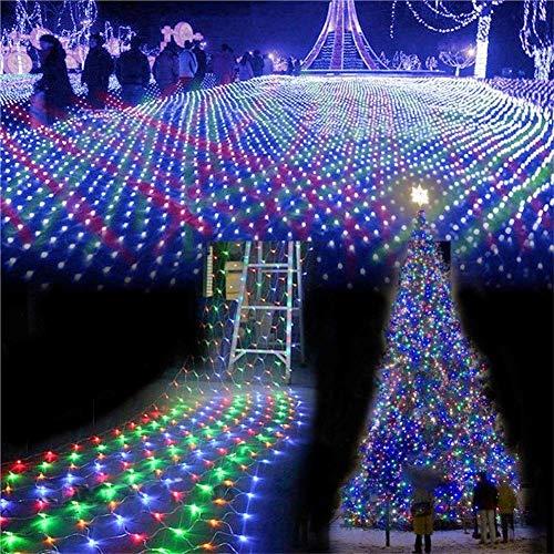 Fairy Net Light Luz de Cadena Impermeable 8 Modos de iluminación Luces Decorativas de Interior al Aire Libre Telón de Fondo de Valla Luz de Malla LED Gazebo de Boda Más Interior (Color: Púrpura