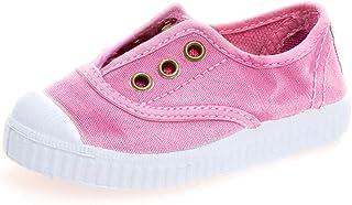 أحذية رياضية للأطفال من Cienta مصنوعة من القماش الكتاني سهلة الارتداء (للأطفال الصغار مقاس 11 متوسط، لون مرجاني 2)
