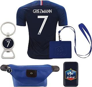 EE bestort France #7 Griezmann 2018 Home Mens Soccer Jersey Color Blue