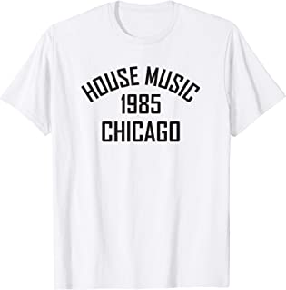House Music 1985 Chicago - Orange / White T Shirt
