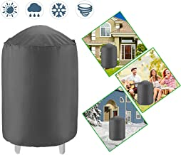 Dome Smoker Cover Heavy Duty Waterproof Barrel Cover,30Dx36H,Bullet Smokers Cover,Vertical Water Smoker Cover,Kettle Grill Cover,Outdoor BBQ Cover,All Weather Protection for Weber, Char-Broil and More