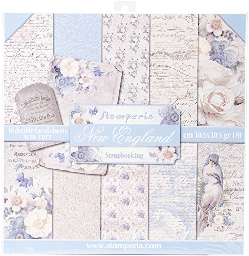 Stamperia Intl Old England Double Sided Paper Pad 10/Pack 12quot x 12quot