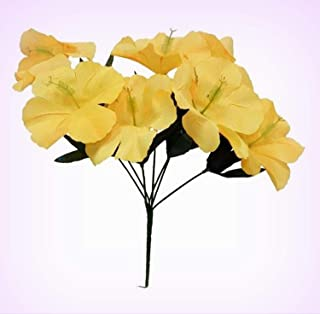 Inna-Wholesale Art Crafts New 5 Hibiscus Yellow Silk Decorating Flowers Bridal Bouquets Centerpieces - Perfect for Any Wedding, Special Occasion or Home Office D?cor