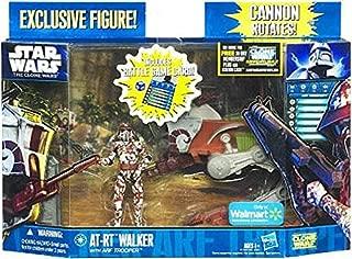 Star Wars Clone Wars 2011 Exclusive Vehicle Action Figure Pack ATRT Walker wi...