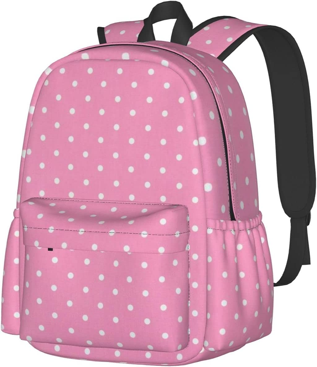 Pink White Dot Fashion Ranking TOP12 Backpacks New popularity Bags High-Capacity Schoo Laptop