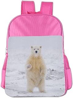 XIKEWL Lightweight Kids Backpack Canada Polar Bear Popular School Book Bags Mini Backpack For Girls Boys Pink
