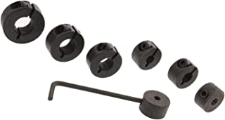 DCT Drill Bit Hole Depth Split Ring Screw Stop Collar 7-Piece Set for Adjustable Precise Hole Cutting Measurements