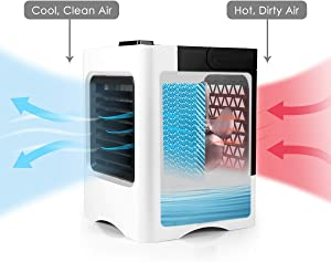 LWQ Rechargeable Portable Air Conditioner Conditioning, USB Mini Air Cooler Air Cooling Fan