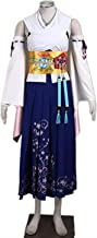 forevercos Final Fantasy 10 FFX Yuna Yunie Cosplay Costume Summon Kimono Cosplay Costume