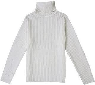 Little Baby Turtleneck Long Sleeve Sweater Basic Solid Fine Knit Warm Sweatshirt Pullover Base Tops