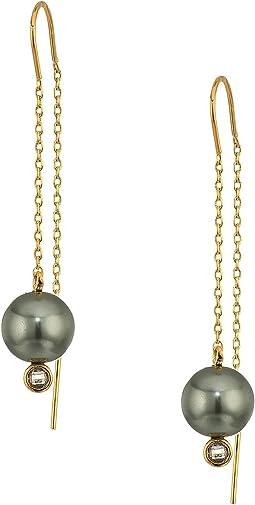 Cole Haan Threader Pearl Earrings