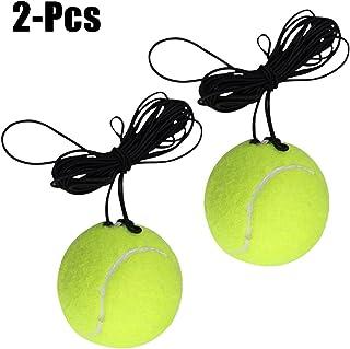 Entrenador de Tenis, Bageek Pelota de Tenis con Cuerda Elástica Bolas de Rebote con Cuerda Herramienta de Práctica Entrenamiento Base de Ejercicios Deportivos