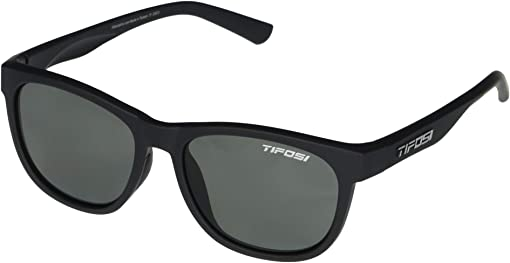 Satin Black Frame Smoke Polarized Lens