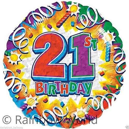 Amscan International Birthday Explosion 21 Metallic Ballon