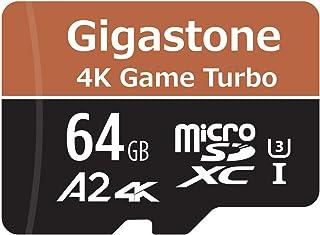 【5年データ回復保証】【Nintendo Switch対応】Gigastone 64GB マイクロSDカード A2 4K Game Turbo 最大読み書きスピード 95/35 MB/s Ultra HD 4K撮影 micro sd カード U...