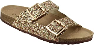 Women's Sparkle Glitter Slip On Casual Sandals