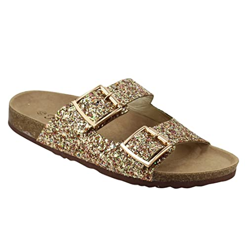 7b07ecac1847 Forever Women s Sparkle Glitter Slip On Casual Sandals