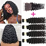 Best Hair Bundles - Brazilian Deep Wave Bundles With Closure 100% Virgin Review