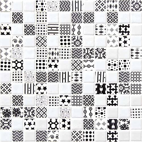 e-ceramica 8436028846016 Mosaico de Cristal Blanco