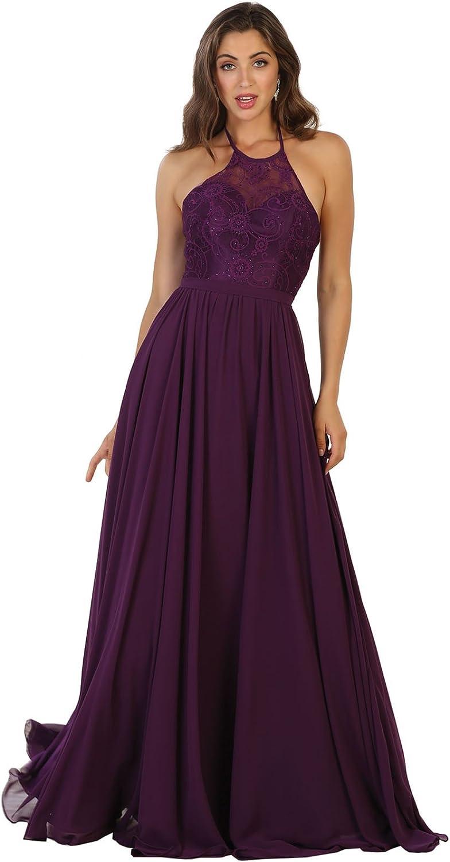 May Queen MQ1507 Long Designer Bridesmaids Evening Dress