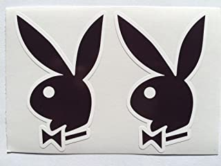 2 Playboy Bunny Ears Die Cut Decals