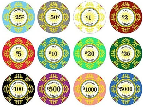 Classic Ceramic 10 Gram Chips Max 47% OFF Sample Poker Pack New Shipping Free