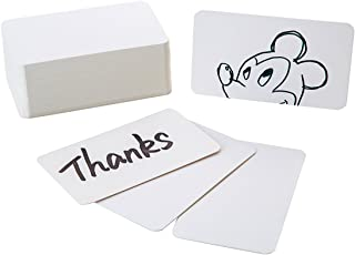 EMAAN 200 Pieces White Kraft Paper Flash Card Study Cards/Memo Scratch Pads/Bookmark/ DIY Greeting Card/Index Card Stock/Note Card(White)