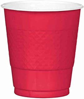 Amscan 43036-40 Red Plastic Cups Party Pack 355ml-20 Pcs