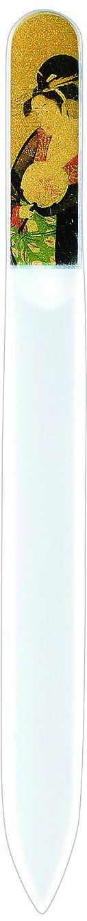 堂々たる放射性インストラクター橋本漆芸 ブラジェク製高級爪ヤスリ 十二月 椿 OPP