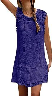 YOINS Sommerkleid Damen Kurze Elegant Strandkleid Schulterfrei Blumenmuster Sexy Kleid Ärmellos Minikleider