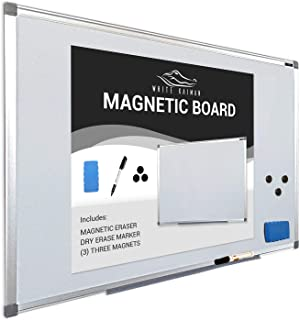 Dry Erase Magnetic Whiteboard w/Silver Frame 36
